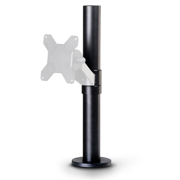 """SpacePole """"Basis"""" Standrohr mit Tischbefestigung Höhe: 400mm schwarz"""
