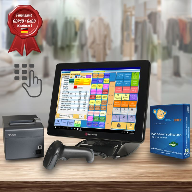 All-In-One POS system Colormetrics P2100, Black witth Bonosoft Retail POS Software – Bild $_i