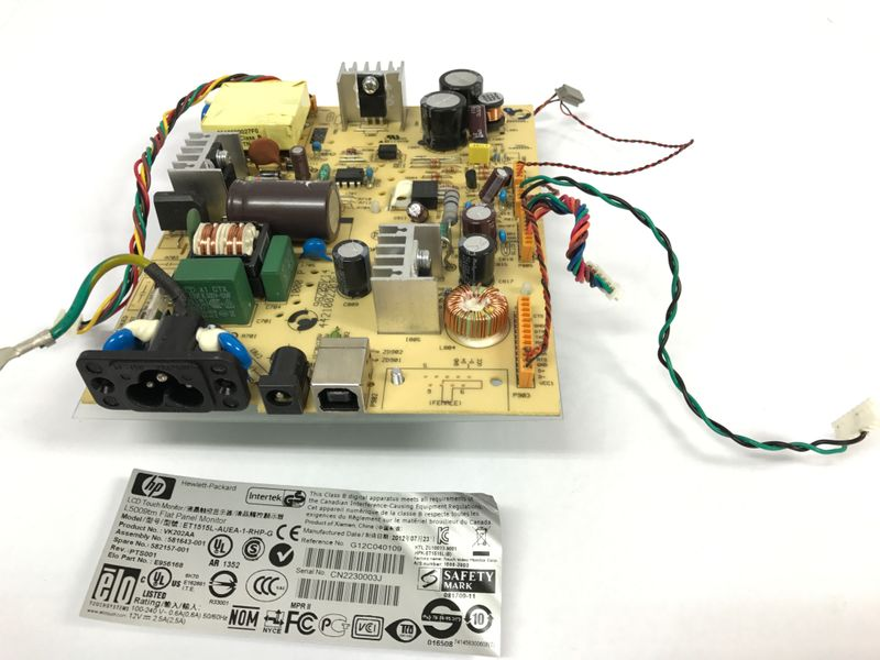 Powerboard for HP L5009tm Touch Display spare part for 581643-001 – Bild 2