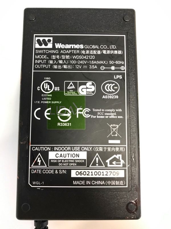 WDS042120 Wearnes Power Supply 12V DC 3,8A – Bild 2