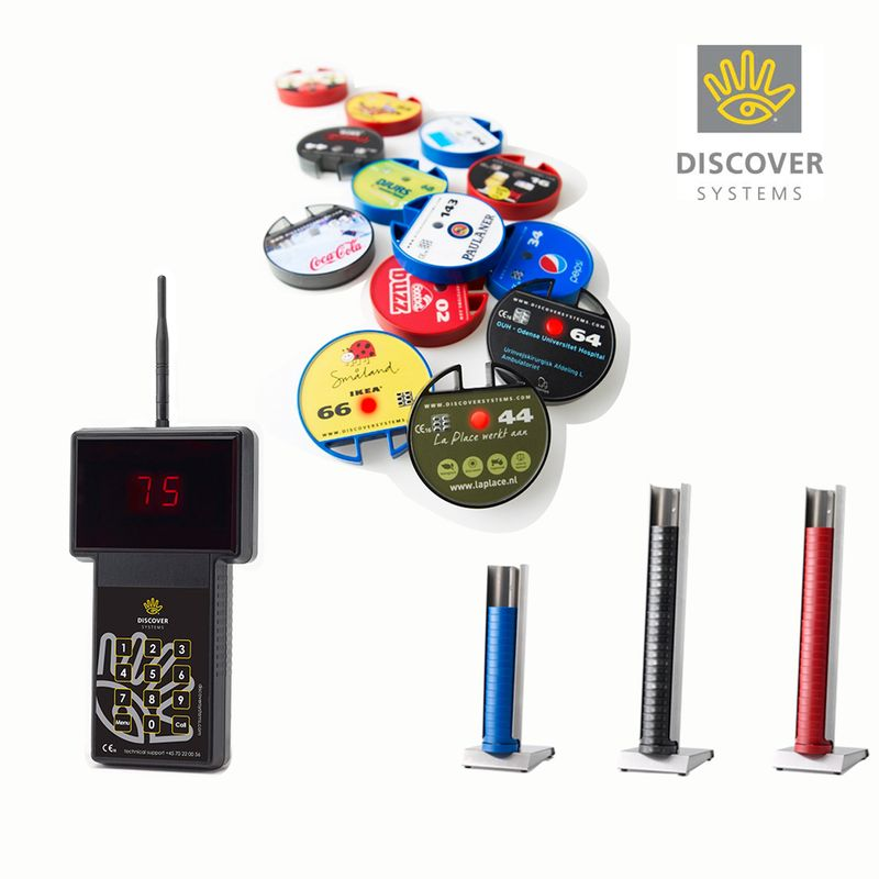 Starter Packet 10 -- Discovery Systems 2one Silent ordering Systems Gästeruf