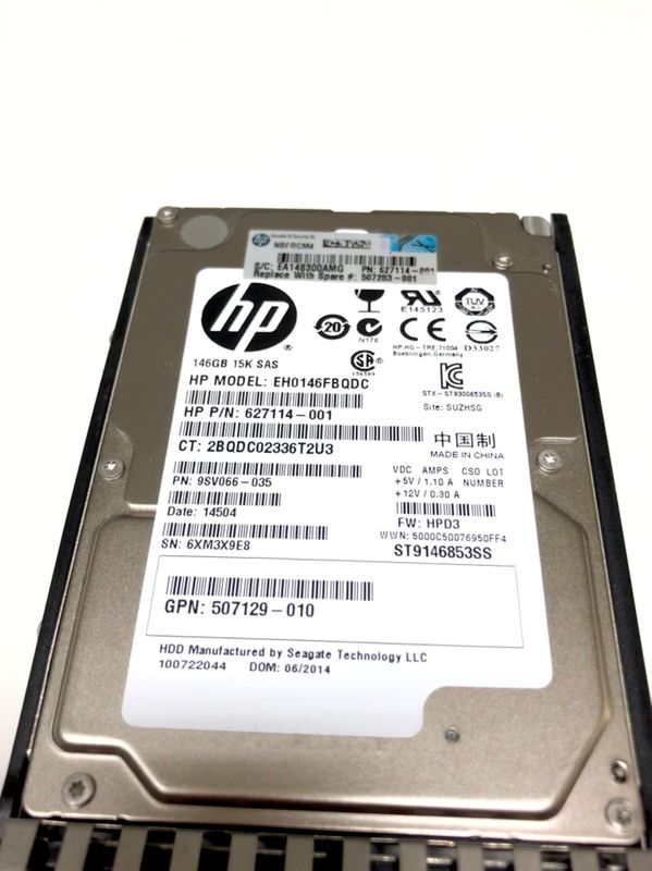 "627114-001 HP 146 GB Hot Swap Hard Dis 15K SAS 2,5"" 6G DP SFF Model EH0146FBQDC – Bild 2"