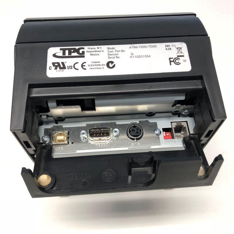 Cognitive TPG A799-720D-TD00 Thermal Receipt Printer, USB + Serial Black – Bild 2