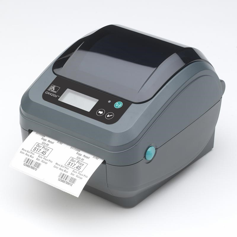 GX42-101720-000 Zebra GX420t Label Printer rev2, 8 Punkte/mm (203dpi) USB + Serial WLAN