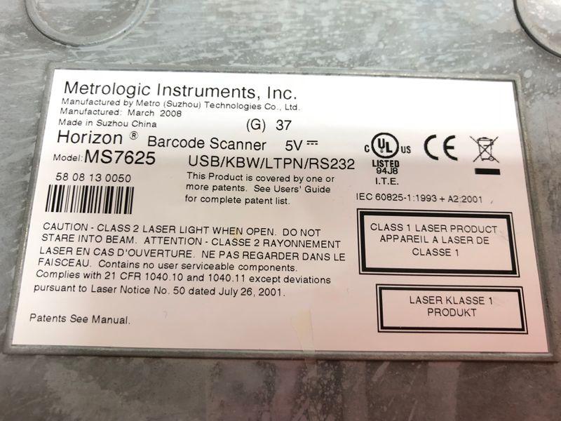 Metrologic Honeywell Horizon 7625 Barcode Scanner 1D, Multi-IF, Edelstahl Seriell – Bild 6