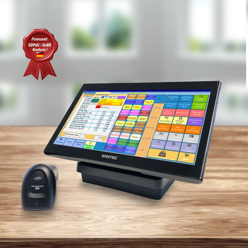All-In-One 14 Zoll Anypos 200 Kassensystem LED Lüfterlos, 4GB RAM, 64GB SSD, 20x2 Kundenanzeige , integrierte Drucker – Bild $_i