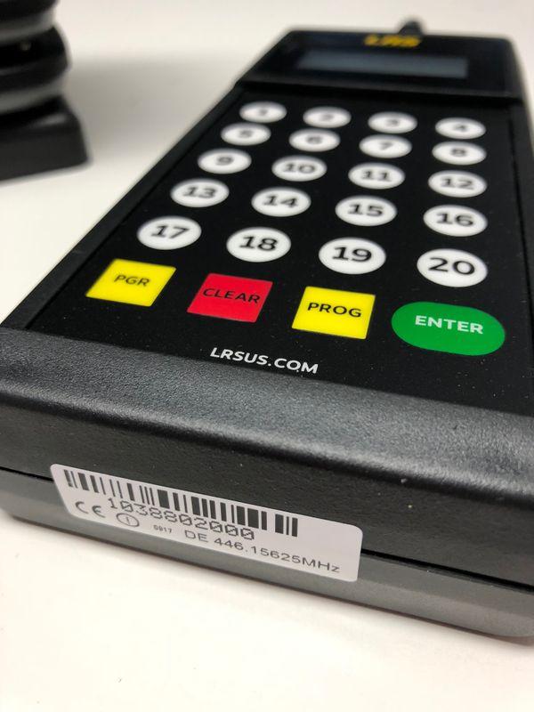 LRS Gäste Paging Starterset mit 10 Pagern und Transmitter – Bild $_i