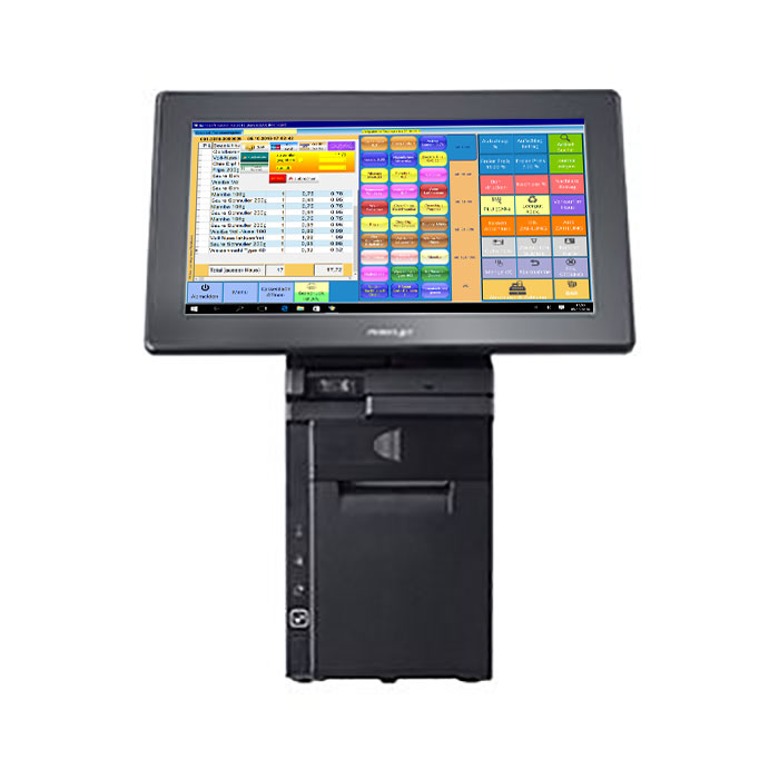"Posiflex HS-3510W-B All-in-One Touch Kasse mit 14"" Projected Capacitive Touch-Monitor, - lüfterlos mit bonsoft Kassensoftware – Bild 1"