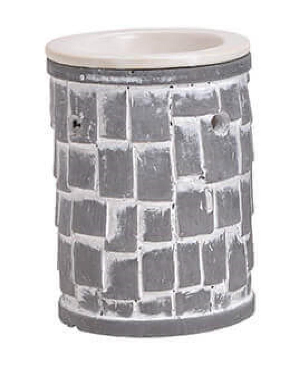 Duftlampe Steinmauer Mosaik, schwere Keramik, lose Verdunsterschale