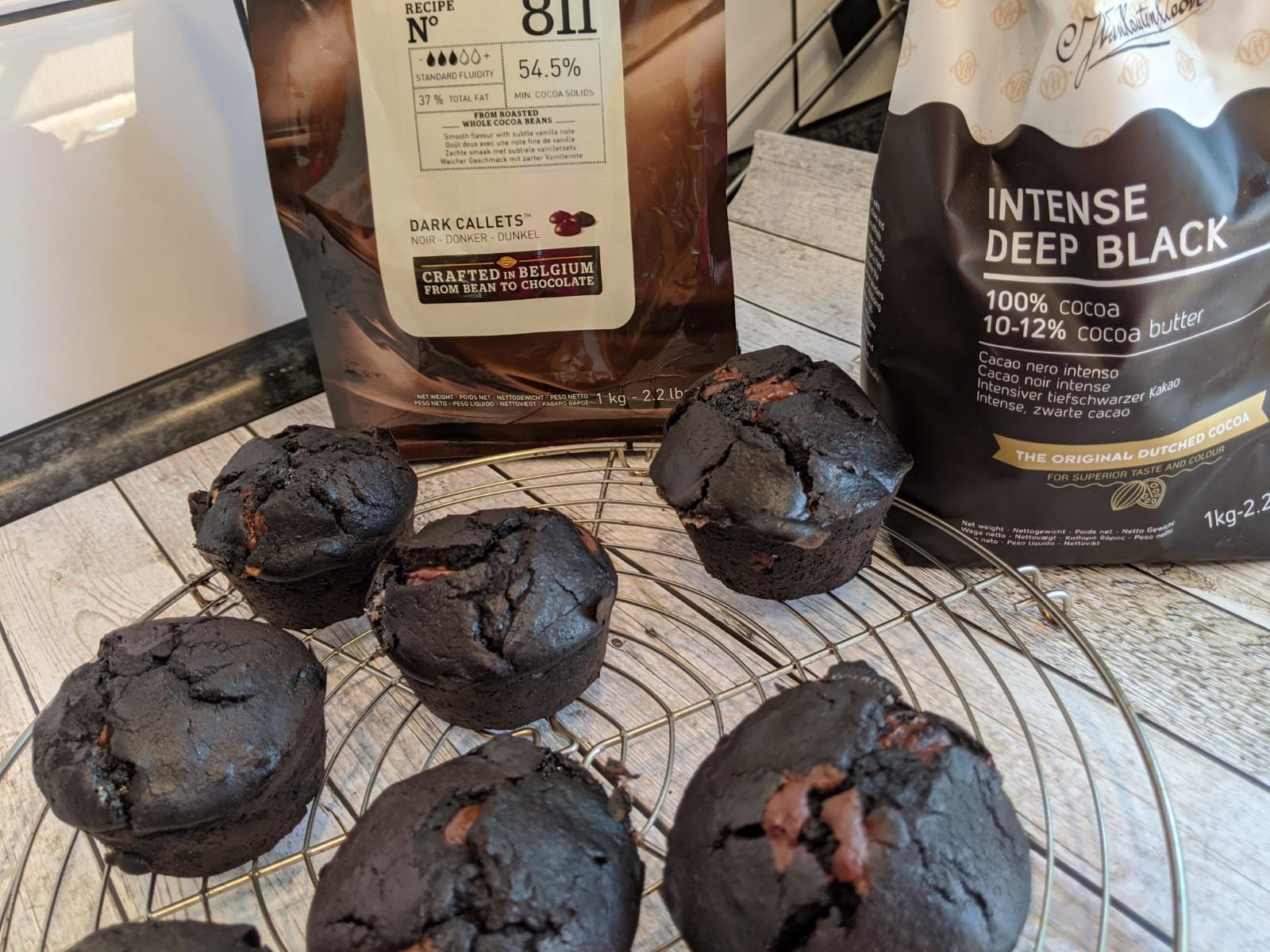 nackte schwarze Muffins