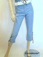 Country Line Landhaus Capri Jeans hellblau fesch + pfiffig