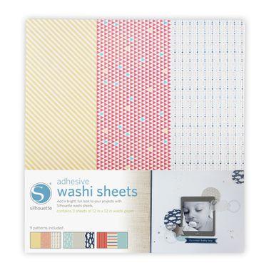 Washi Paper selbstklebend 3 Bogen 30,4 x 30,4cm