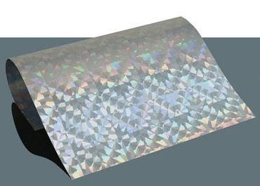 Hologramm Flex Bügelfolie Superrainbow Diamond A4