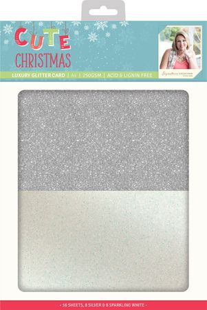 Cute Christmas - Luxury Glitter Karten