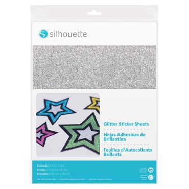 Glitter Sticker Papier bedruckbar 8 Blatt 21,5 x 27,9 cm
