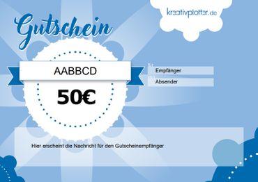 50€ Kreativplotter.de Gutschein