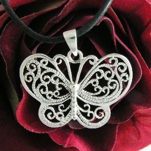 Schmetterling Butterfly Silber Anhänger – Bild 2