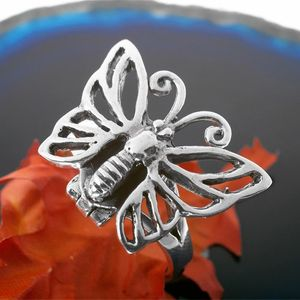 Schmetterling Gift Ring Silber Giftring