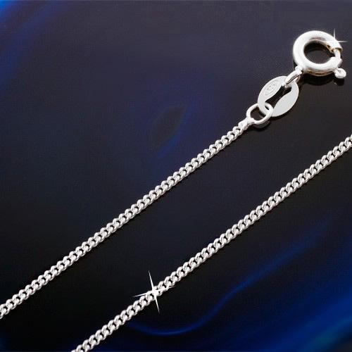 925er Sterling Silber Panzerkette Kette Halskette Silberkette ideal für Anhänger