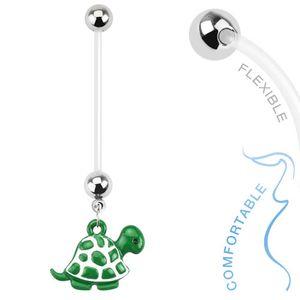 """Schwangerschaftspiercing: Bio Flex Piercing für Schwangere """"Schildkröte"""""""