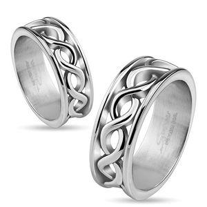 Edelstahl Ring Infinity Partnerring