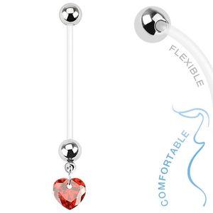 """Schwangerschaftspiercing: Bio Flex Piercing für Schwangere """"Zirkonia Herz"""" – Bild 4"""