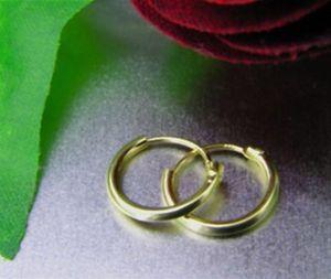 Creolen 333 Gold Ohrringe (10 mm)