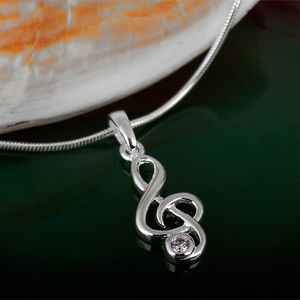 Silber Anhänger Notenschlüssel Violinschlüssel