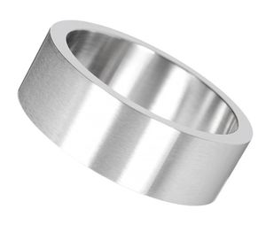 Fingerring: Herren Ring Edelstahl Partnerring
