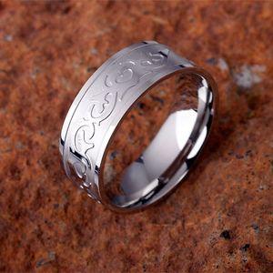 Edelstahl Ring mit Herz Tribal