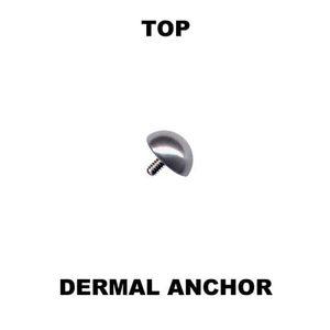 Dermal Anchor Aufsatz Hautanker Top Piercing Kugel, Kristall, Halbkugel, Perle – Bild 3