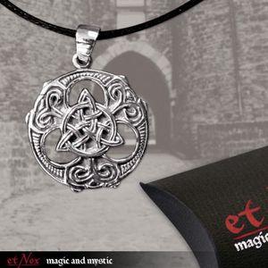 """etNox Anhänger """"Celtic Knot"""" Bronze versilbert"""