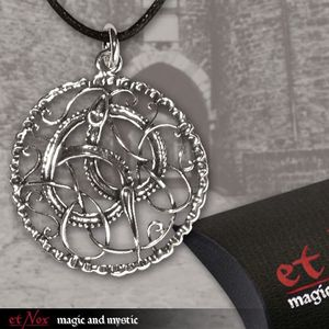 "etNox Anhänger ""Keltische Schlange"" Bronze versilbert"
