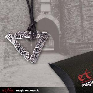 """etNox Anhänger """"Dreieck"""" Bronze versilbert"""