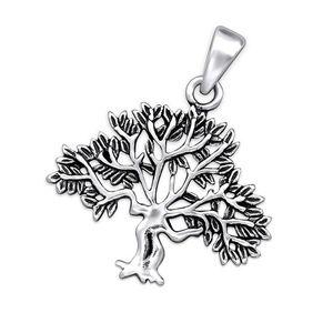 Silber Anhänger Lebensbaum Amulett Wunschbaum