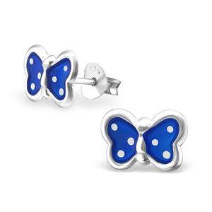 "Kinderohrstecker: Mädchen Ohrringe Silber ""Schmetterling"""