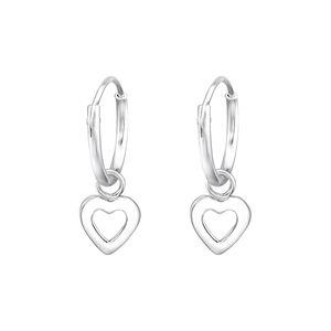 Creolen für Kinder: Ohrringe aus 925er Silber mit Herz, Schleife oder Stern – Bild 2