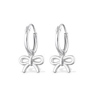 Creolen für Kinder: Ohrringe aus 925er Silber mit Herz, Schleife oder Stern – Bild 3