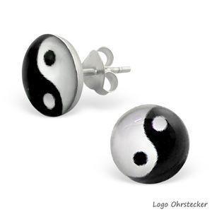 Yin Yang Schmuck aus 925er Silber: Ohrstecker und Zehenring – Bild 2