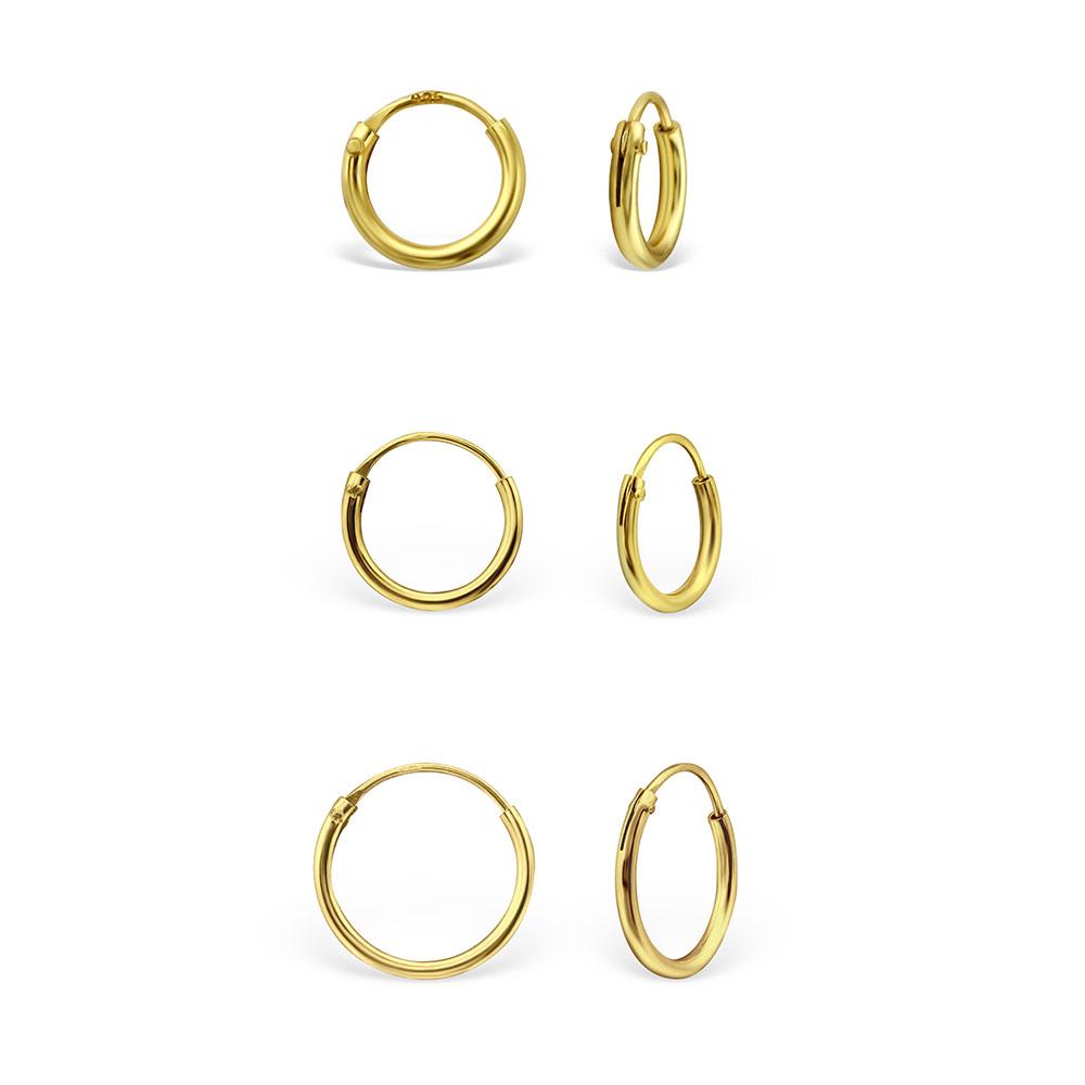 Großhandelsverkauf suche nach echtem bestbewerteter Beamter Kleine goldene Creolen Ohrringe aus 925 Silber | Order and smile