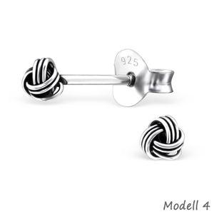 Ohrstecker Knoten: Ohrringe Silber 925 – Bild 5