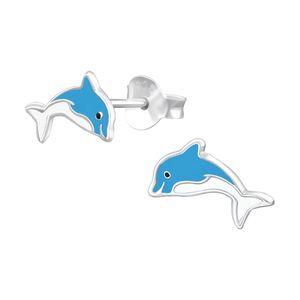 "Kinder Ohrstecker Silber ""Delfin"""