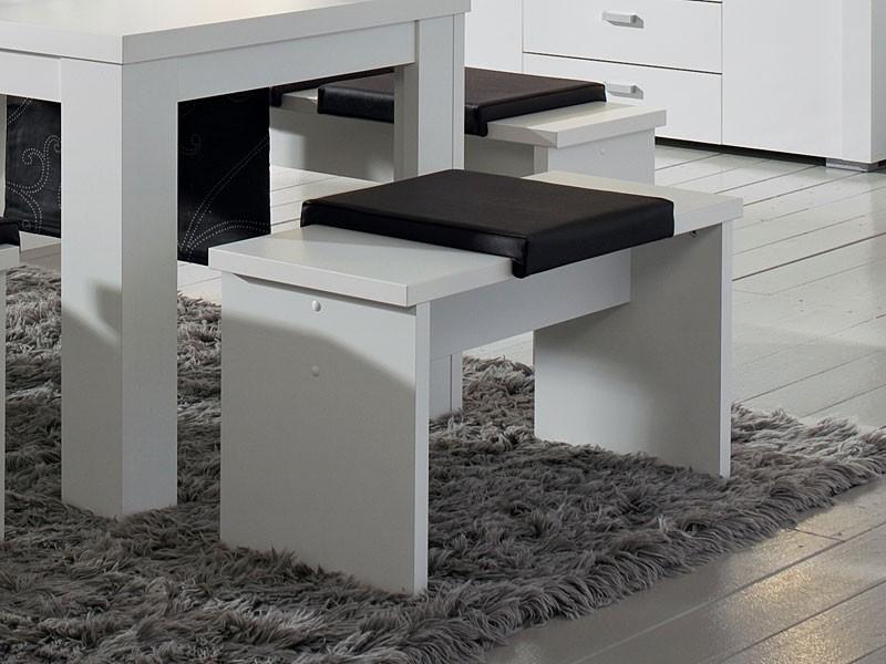 Sitzbank weiß matt Esstischbank 90 cm 001