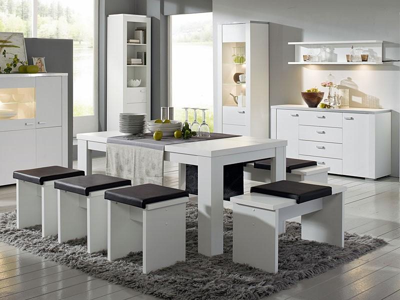 Sitzbank weiß matt Esstischbank 90 cm - Möbel - Möbel Tische Bänke ...