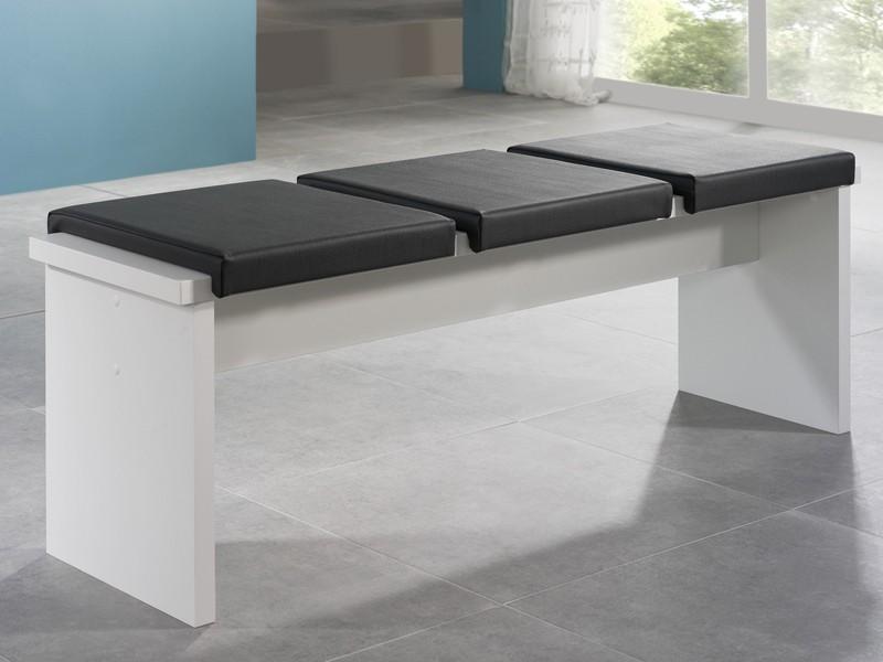 Sitzbank weiß 160 cm Esstischbank  001