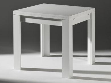 Küchentisch weiß Ausziehtisch 80x80cm