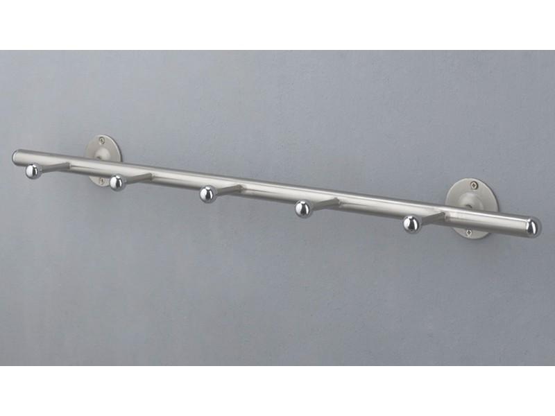 hakenleiste schlichtes design wandgarderobe 5 haken sale ebay. Black Bedroom Furniture Sets. Home Design Ideas