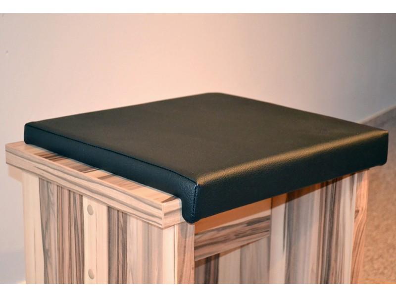 Bankkissen schwarz Stuhlkissen  Kunstleder 40x38 001