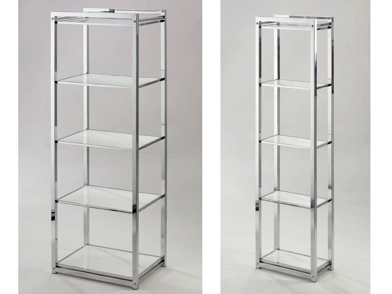 Badregal schmal 5 Einlegeböden Plexiglas Acrylglas weiß - Möbel ...