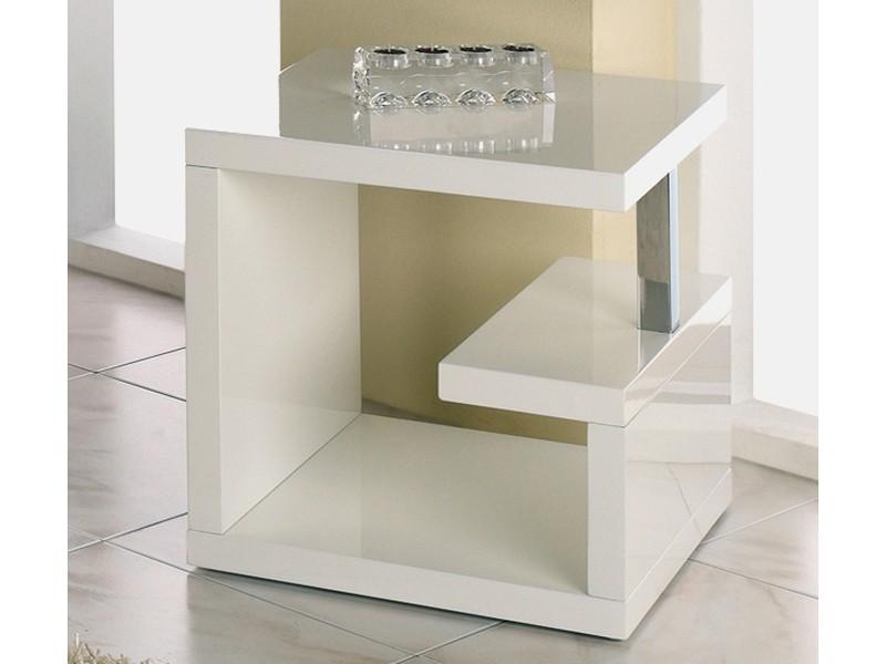 Beistelltisch Hochglanz Weiß Design Quadratisch 49x49x49